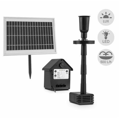 Blumfeldt fontaine 500 pompe à eau solaire 500 l/h LED batterie