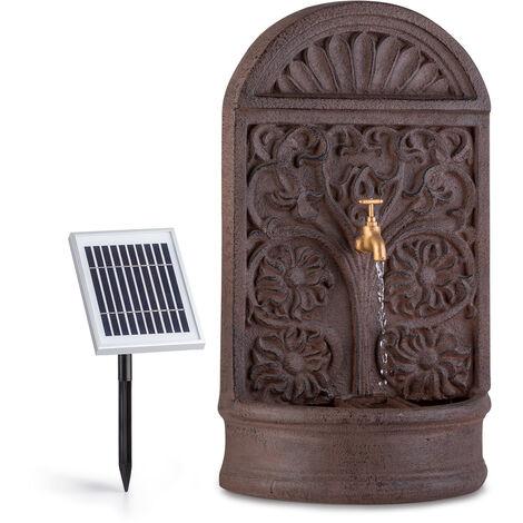 blumfeldt Fontaine solaire Blumquell LED 5 m de câble panneau solaire pierre artificielle