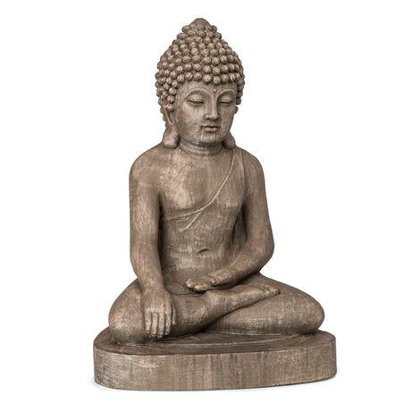Blumfeldt Gautama Statue de jardin 43 x 61 x 34 cm fibrociment marron