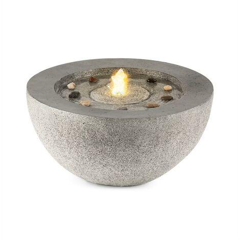 Blumfeldt Genesis Fontaine de jardin éclairage LED 7W Polyrésine anthracite