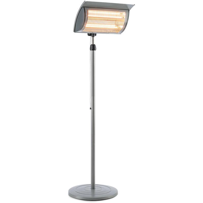 blumfeldt Heat Guard Focus radiateur de terrasse IR ComfortHeat 1000/2000W gris