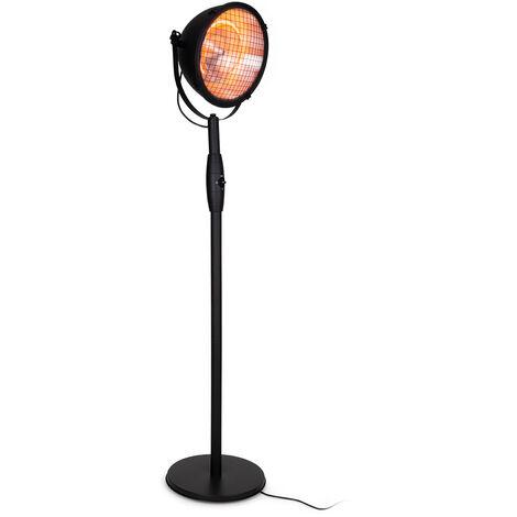 Blumfeldt Heatspot Calefactor para terraza 900/1500/200 W IR ComfortHeat negro