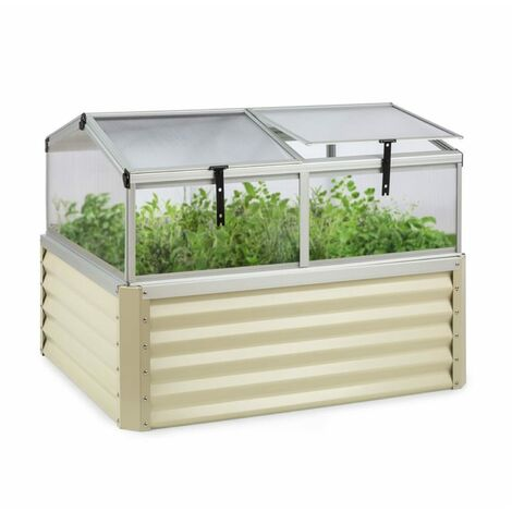 Blumfeldt High Grow Advanced Arriate alto con techo 120x95x100cm 540l acero color beige