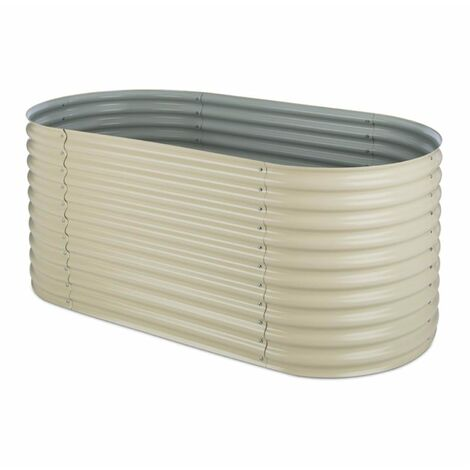 blumfeldt High Grow Raised Planter 2.0m zinc-aluminum coating beige