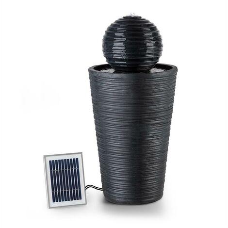 Blumfeldt Liquitorre XL Fontaine de jardin 200 l/h panneau solaire batterie 2W L
