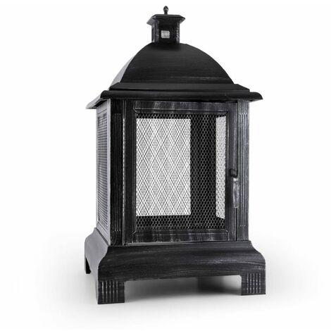 Blumfeldt Loreo Feuerstelle Gartenkamin Feuerlaterne Gartenofen Stahl brüniert
