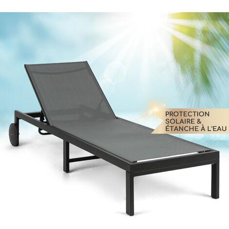 blumfeldt Lucca Lounger chaise longue Polyester Aluminium 4 niveaux