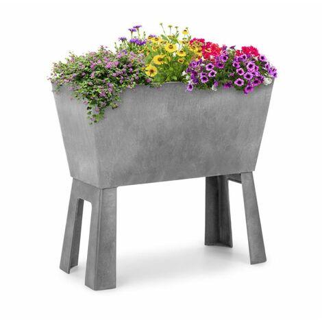 Blumfeldt Mammutgrow Flex jardín de suelo elevado 75 x 70 x 35 cm con protección UV y contra heladas gris