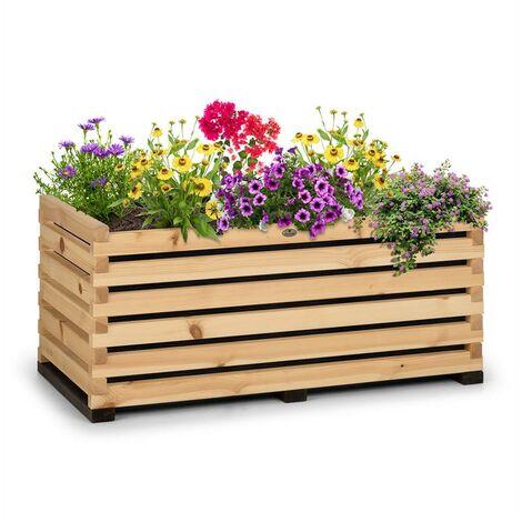 Blumfeldt Modu Grow 100 Carré potager surélevé 100 x 50 x 45 cm bois de pin