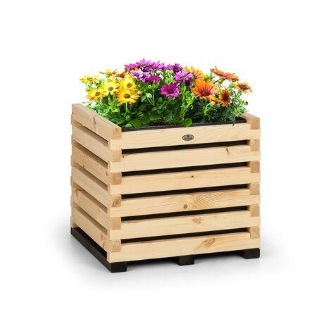 Blumfeldt Modu Grow 50 Carré potager surélevé 50 x 50 x 45 cm bois de pin