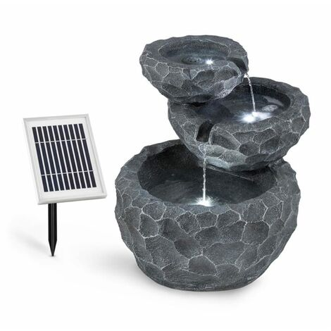 Blumfeldt Murach Cascade Fountain Battery-operated 2 kW Solar Panel 3 LEDs
