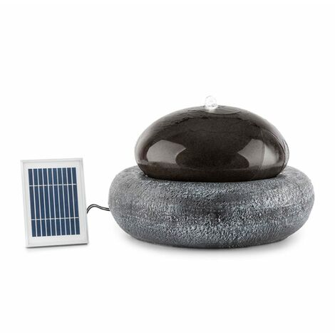 Blumfeldt Ocean Planet Solar Fountain 200l / h Solar Panel 2W Rechargeable Battery LED Polyresin