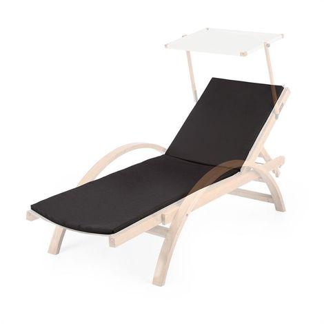 Blumfeldt Panamera Rembourrage de chaise longue -Polyester & mousse - Noir