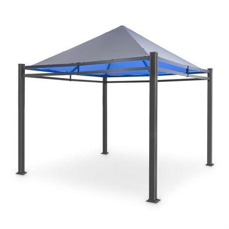 blumfeldt Pantheon Illumina Pérgola con techo policarbonato Aluminio Negra