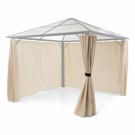 Blumfeldt Pantheon Solid Sky Pavilion Side Panels 4 Pieces 140g / m² Polyester Beige