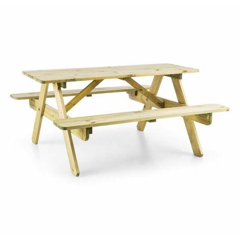 Blumfeldt Picknickerchen mesa de picnic para niños mesa de juego madera de pino