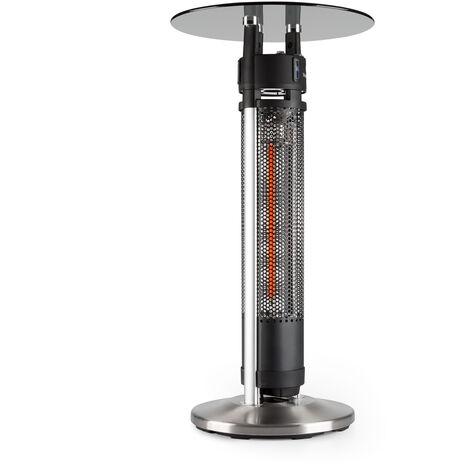 blumfeldt Primal Heat 95 table haute élément chauffant IR au carbone 1600 W LED 95 cm