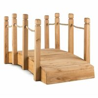 Blumfeldt Rialto puente de jardín puente decorativo 58x58x122cm madera maciza
