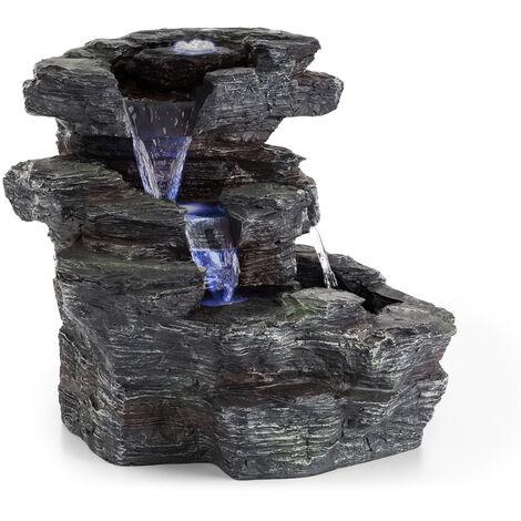Blumfeldt Rochester Falls Fuente de jardín IPX8 6 W Poliresina 3 LEDs Aspecto de piedra