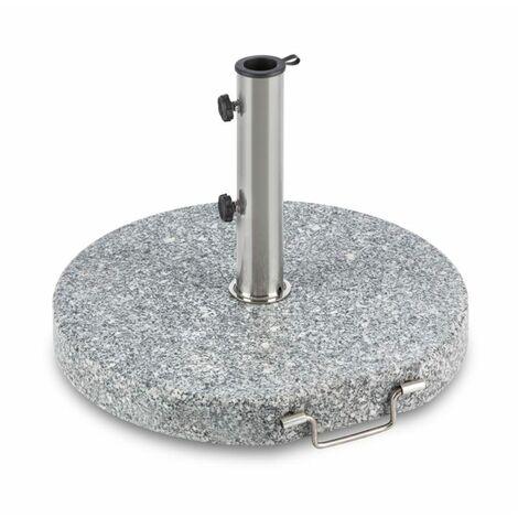 Blumfeldt Schirmherr 30RD Sun Umbrella Stand 30 kg Terrace Granite Grey Round
