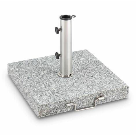 Blumfeldt Schirmherr 30SQ Pied de parasol 30 kg Terrasse carré granit - gris