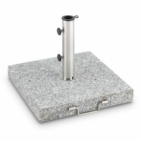 Blumfeldt Schirmherr 30SQ Sun Umbrella Stand 30 kg Terrace Granite Grey Polished