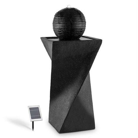 blumfeldt Schönbrunn Fuente esférica solar 200 l/h LED Basalto