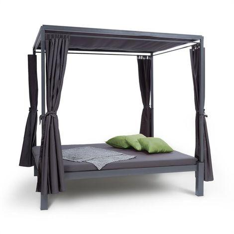 Blumfeldt Senator Lounge Garden Lounger 188x208x205cm Sunshade Grey