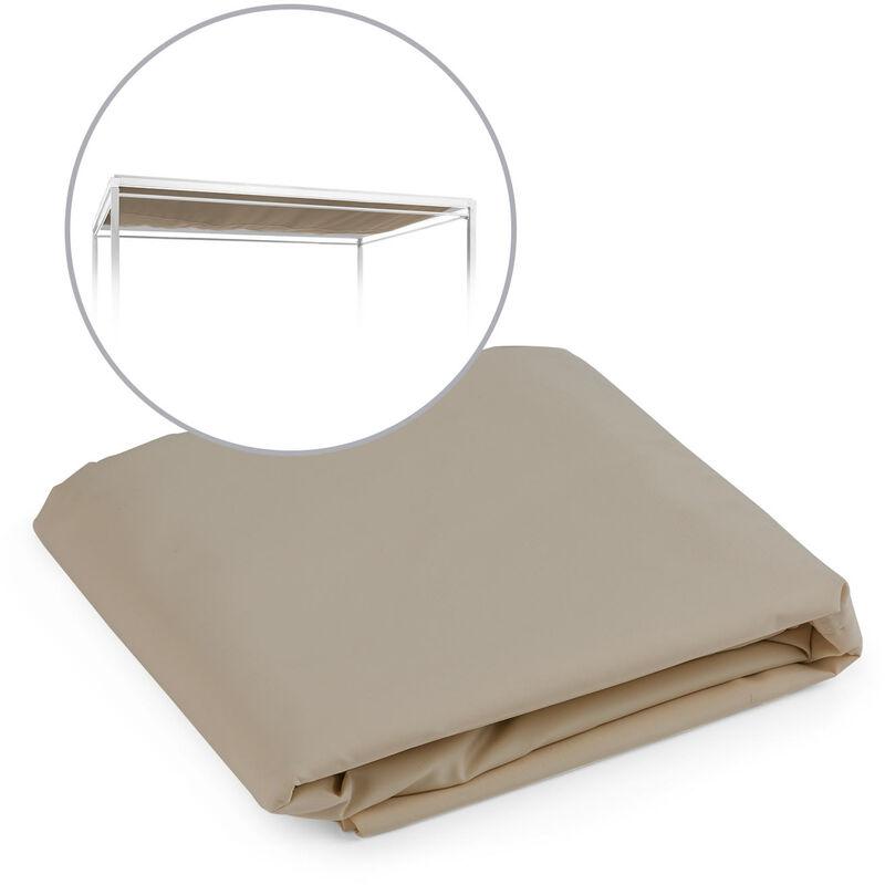 Senator Toit de remplacement pour chaise longue polyester taupe - Blumfeldt