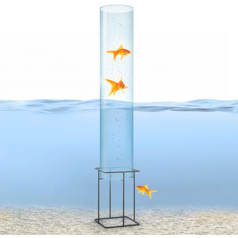 blumfeldt Skydive 100 tour à poissons 100 cm Ø 20 cm acrylique métal transparent
