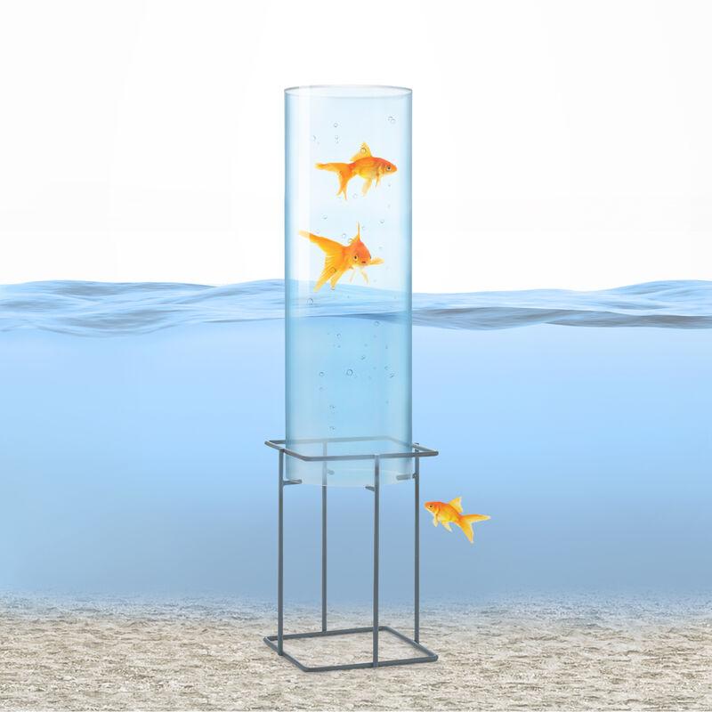 Skydive 60 Torre para peces 60 cm Ø 20 cm cristal acrílico metal transparente
