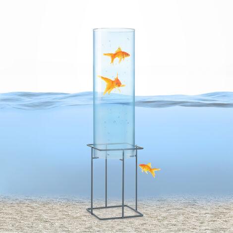 blumfeldt Skydive 60 tour à poissons 60 cm Ø 20 cm acrylique métal transparent