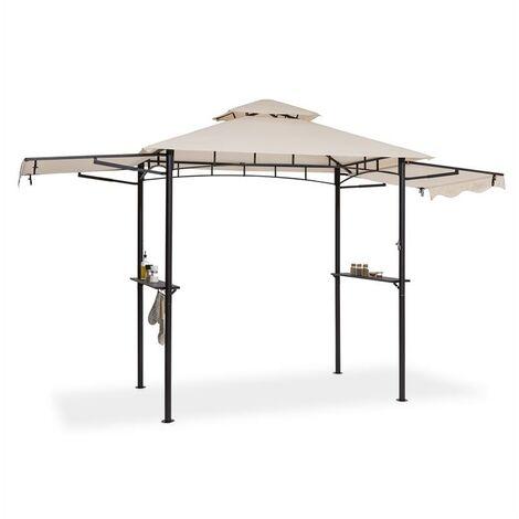 Blumfeldt Steakhouse Wings Pavillon 244x260x152cm 160 g/m² polyester acier beige