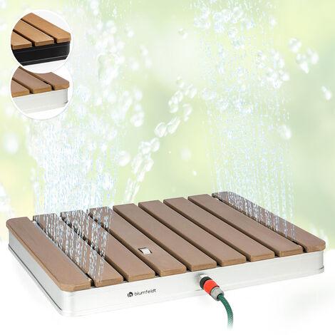 Blumfeldt Sumatra Breeze SQ Douche de jardin WPC aluminium 70x55 cm carrée