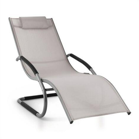 Blumfeldt Sunwave Aluminium Deck Chair Lounger Taupe