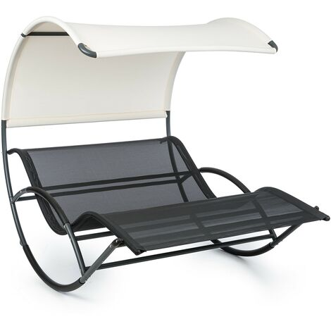Blumfeldt The Big Easy chaise longue à bascule charge 350kg - Noir