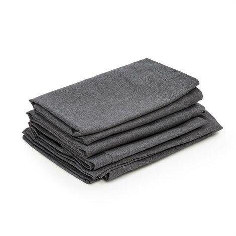 Blumfeldt Titania Dining Set Upholstery Covers 10-pc 100% Polyester Dark Grey