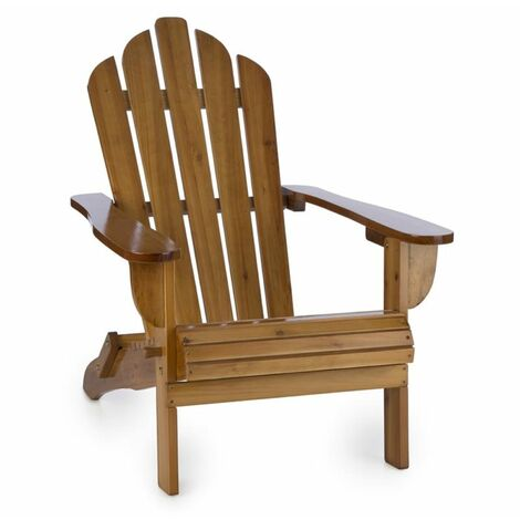 Blumfeldt Vermont Chaise de jardin pliable style Adirondack bois sapin - marron
