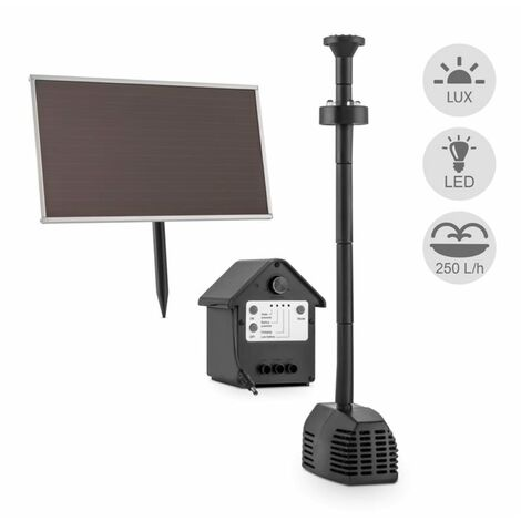 Blumfeldt Waterworks 250 Water Pump Solar Fountain 250l / h LED Battery