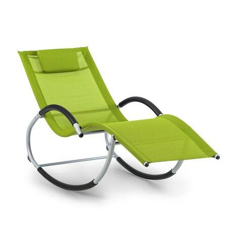 blumfeldt Westwood Rocking Chair Fauteuil à bascule cadre aluminium vert