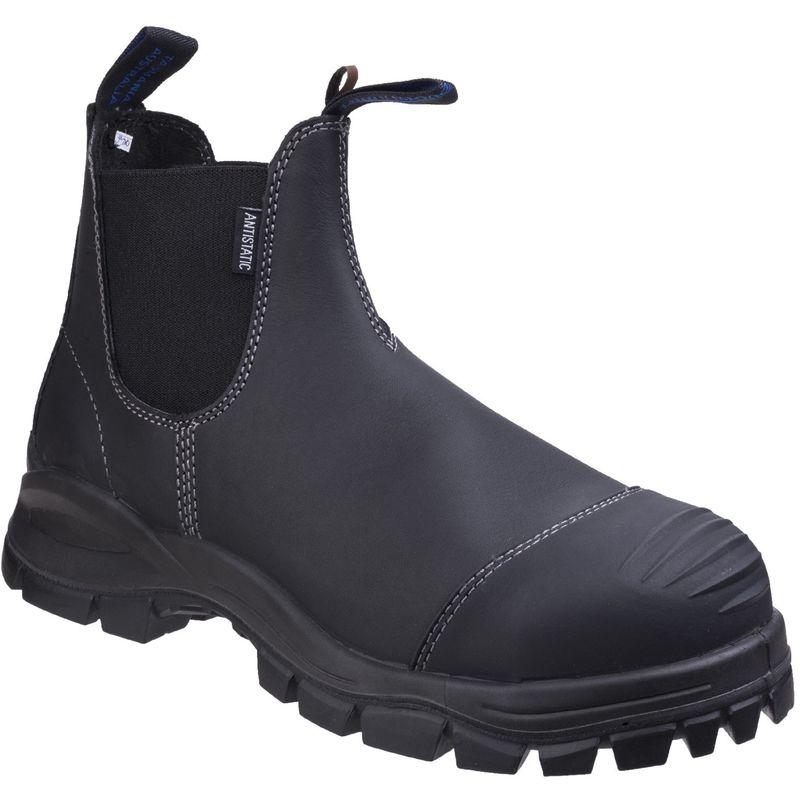 Image of Blundstone Unisex Adults Dealer Boots (8 UK) (Black)