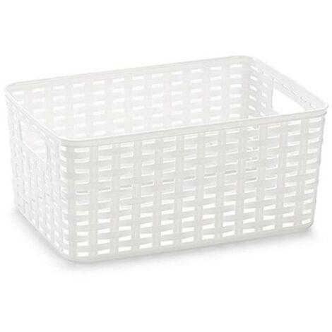 BLUNGI cesta mimbre 33x22 cm 10 litros blanca