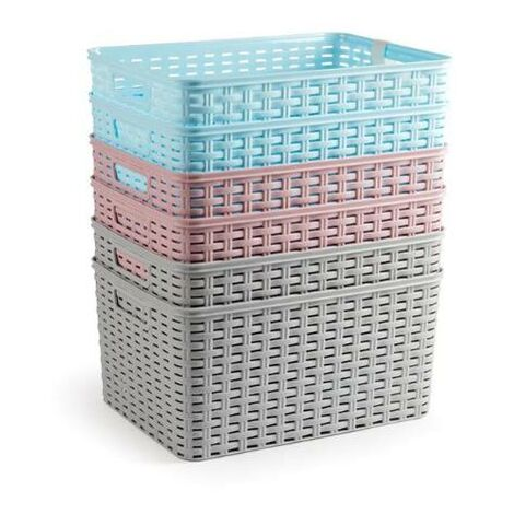 BLUNGI cesta mimbre 38,5x28,5x19 cm surtidas