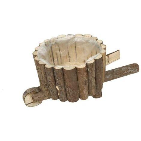 BLUNGI jardinera carretilla madera 1 rueda 52928