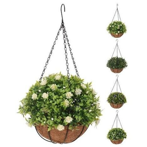 BLUNGI maceta colgar + planta 20x50 cm