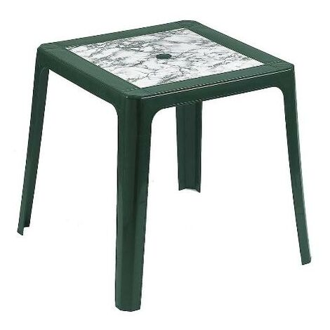 BLUNGI mesa apilable 70x70 cm 4025vm verde marmol
