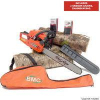 BMC 20'' Easy Start 55cc Chainsaw with 2 Oregon Chains & Storage / Carry Bag
