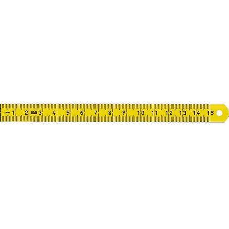 BMI Maßstab polyamidbeschichtet, biegsam, Länge 150 mm, Querschnitt 13x0,45 mm