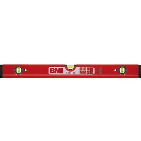 """BMI Wasserwaage aus Leichtmetall """"ROBUST"""", durchgehendes Profil, Länge 1500 mm"""
