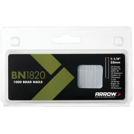 BN1820 Brad Nails 32mm 18g Pack 1000 ARRBN1820